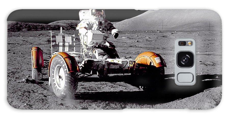 Apollo 17 Galaxy S8 Case featuring the photograph Apollo 17 Moon Rover Ride by Movie Poster Prints