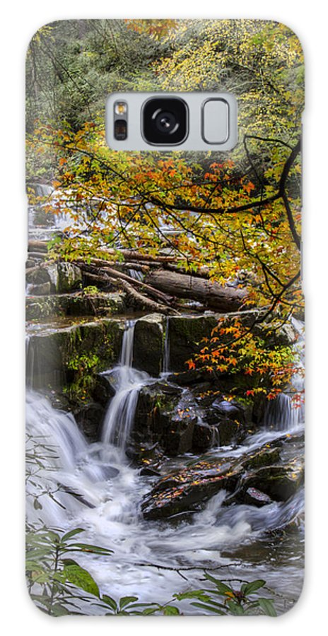 Appalachia Galaxy S8 Case featuring the photograph Appalachian Mountain Waterfall by Debra and Dave Vanderlaan
