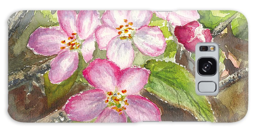 Apple Blossoms Galaxy S8 Case featuring the painting Apple Blossoms II by Corie Farley