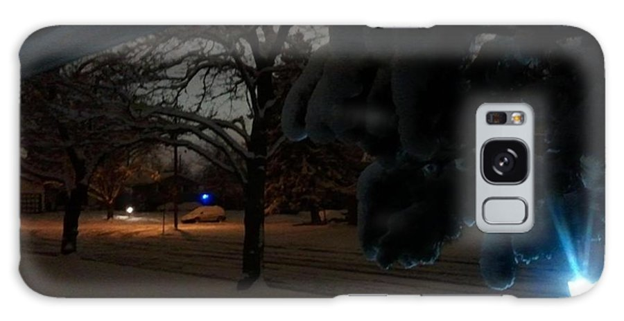 Snow Galaxy S8 Case featuring the photograph April Snow by Dallas Jensen
