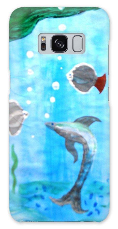 Aqua Galaxy S8 Case featuring the painting Aqua Life by Sachin Raverkar