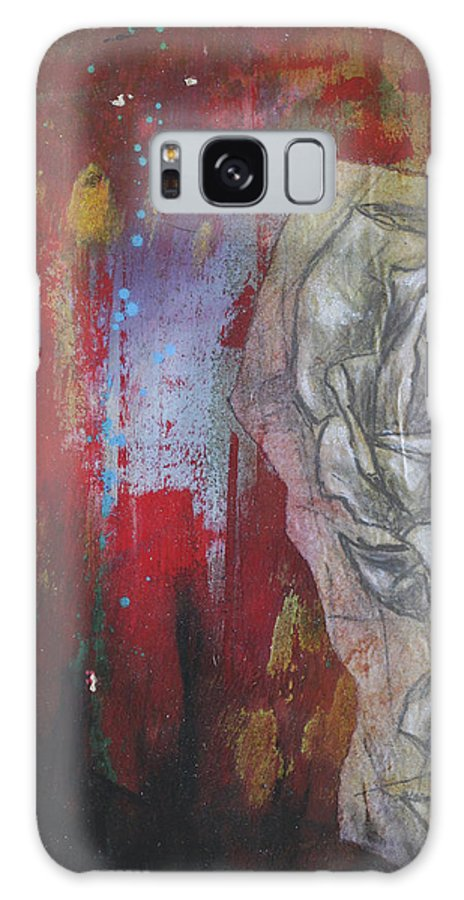 Floral Galaxy S8 Case featuring the mixed media Aqua Red Rose No.3 by Bhreon Bynum