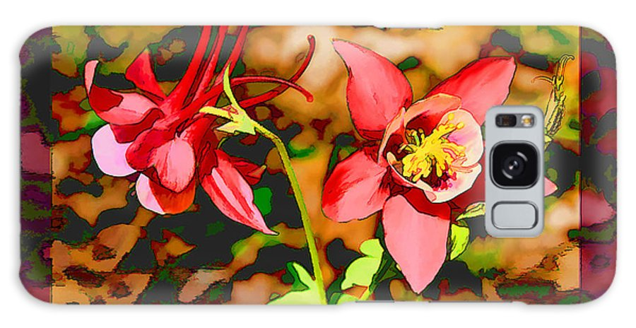 Flower Galaxy S8 Case featuring the photograph Aqualigia Floral 11x14 by Bonnie Willis