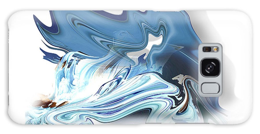 Astrology Galaxy S8 Case featuring the painting Aquarius by Christian Simonian
