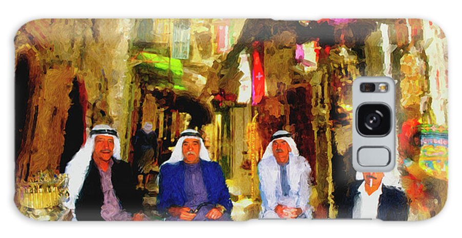 Arab Art Paintings Galaxy S8 Case featuring the painting Arab Merchants Of Jerusleum by Ted Azriel