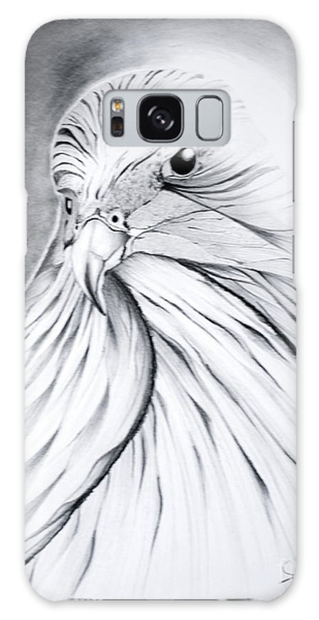 Arabian Falcan Galaxy S8 Case featuring the painting Arabian Falcon by Jalal Gilani