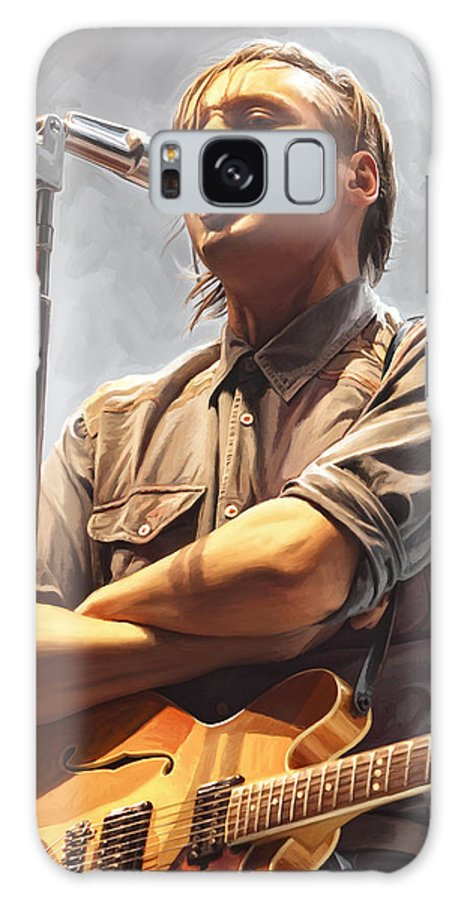 Arcade Fire Paintings Galaxy S8 Case featuring the painting Arcade Fire Win Butler Artwork by Sheraz A