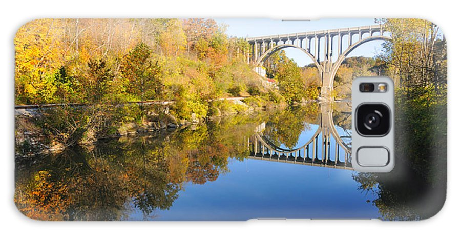Valley Galaxy S8 Case featuring the photograph Arched Bridge Over Blue Water by Kenneth Sponsler