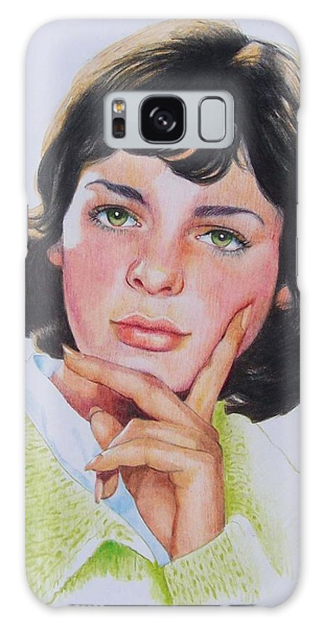 Portrait Galaxy Case featuring the mixed media Ariane by Constance Drescher