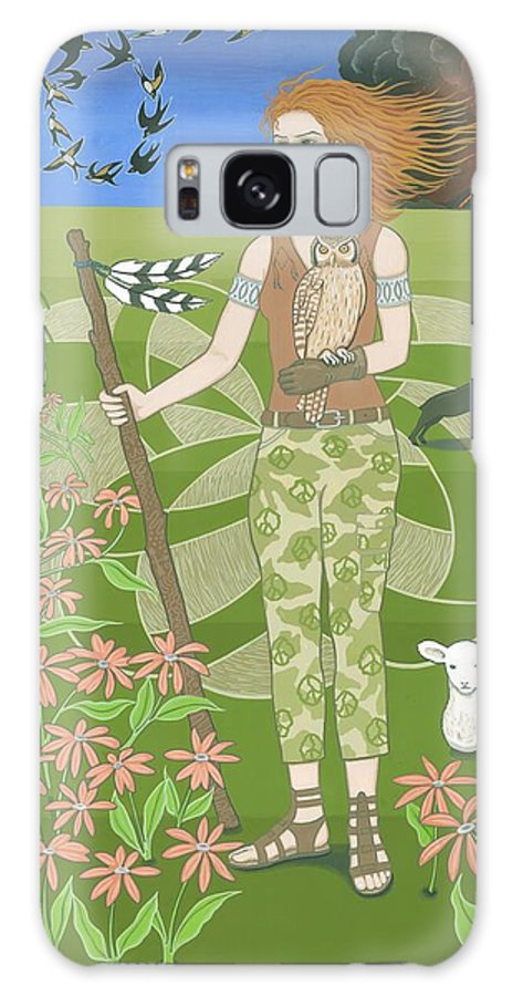 Aries Galaxy S8 Case featuring the painting Aries by Karen MacKenzie