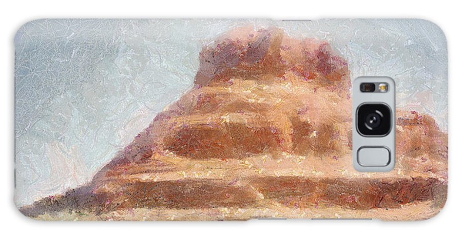 United States Of America Galaxy S8 Case featuring the painting Arizona Mesa by Jeffrey Kolker