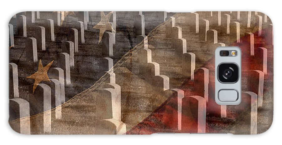 America Galaxy S8 Case featuring the photograph Arlington Cemetery With Faded Flag by Lane Erickson