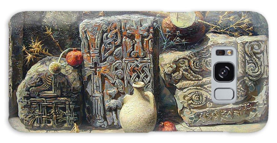The Armenian Stones Galaxy S8 Case featuring the painting Armenian Stones by Meruzhan Khachatryan