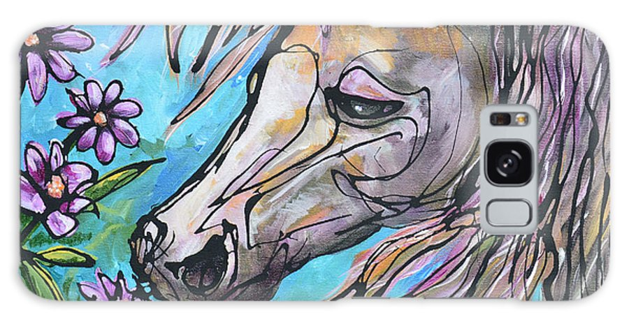 Horse Galaxy S8 Case featuring the painting Aromatherapy by Jonelle T McCoy