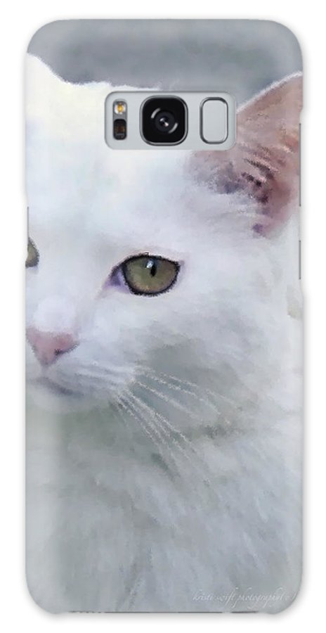 Cat Galaxy S8 Case featuring the photograph Art Cat by Kristi Swift