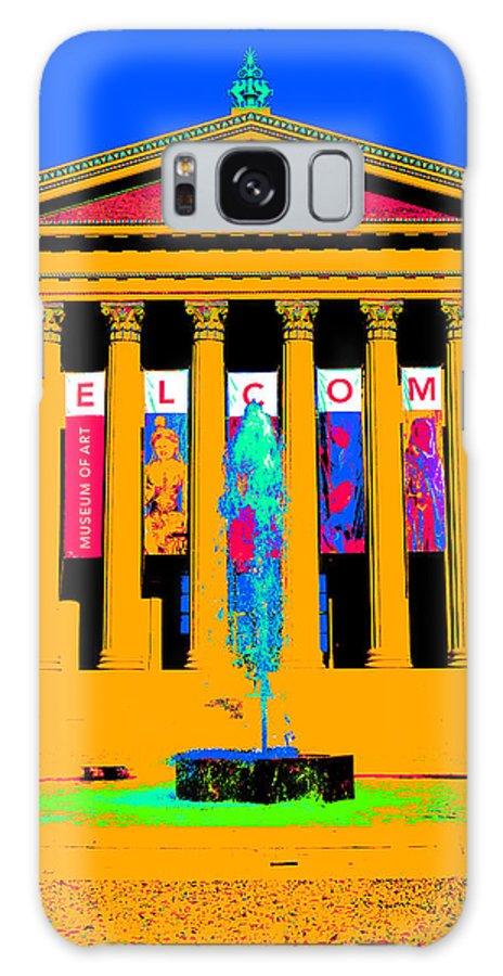Art Museum Galaxy S8 Case featuring the digital art Art Museum -philadelphia by Constantin Raducan