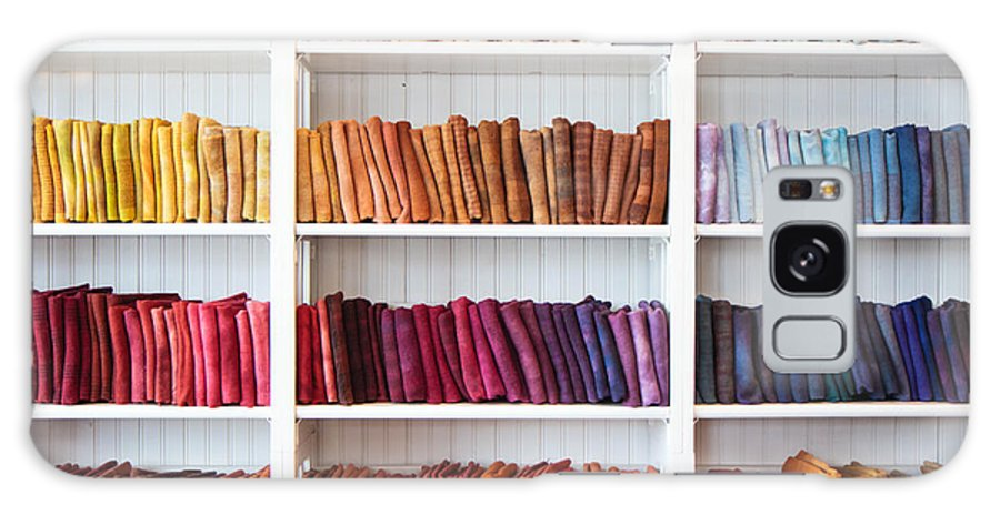 Linens Galaxy S8 Case featuring the photograph Artisan Linen Shelf by Robert Clifford
