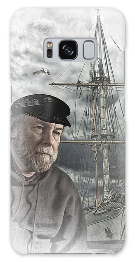 Art Galaxy S8 Case featuring the photograph Artistic Digital Image Of An Old Sea Captain by Randall Nyhof