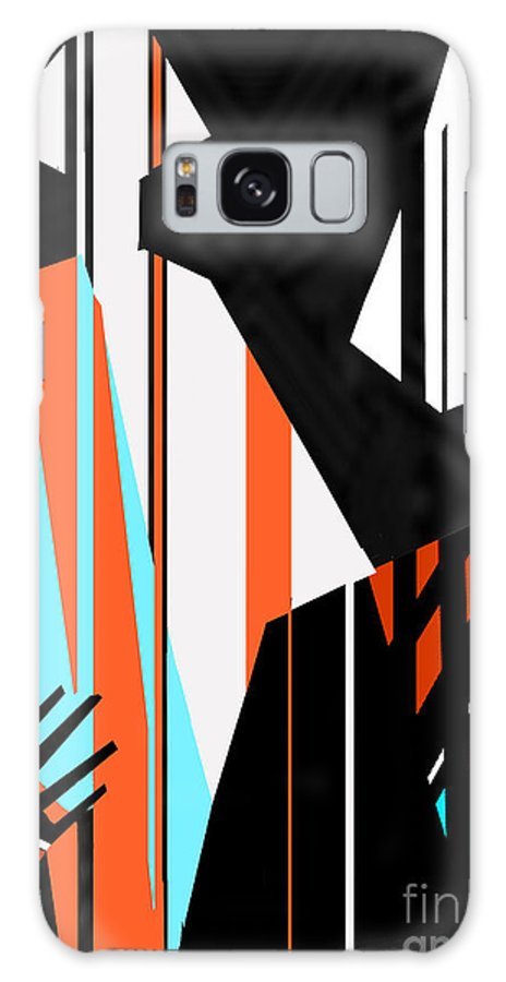 Dress Galaxy Case featuring the digital art Artistic Fashion Colorful Illustration by Alina Shakhovets