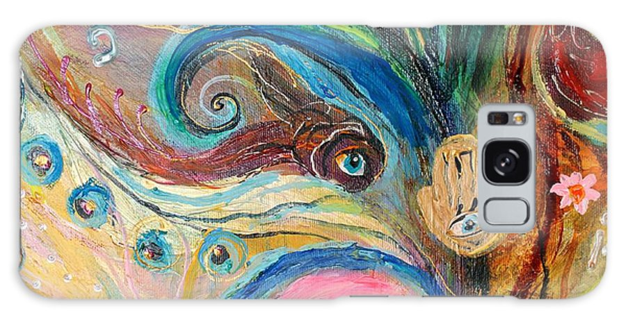 Jewish Art Prints Galaxy S8 Case featuring the painting Artwork Fragment 07 by Elena Kotliarker