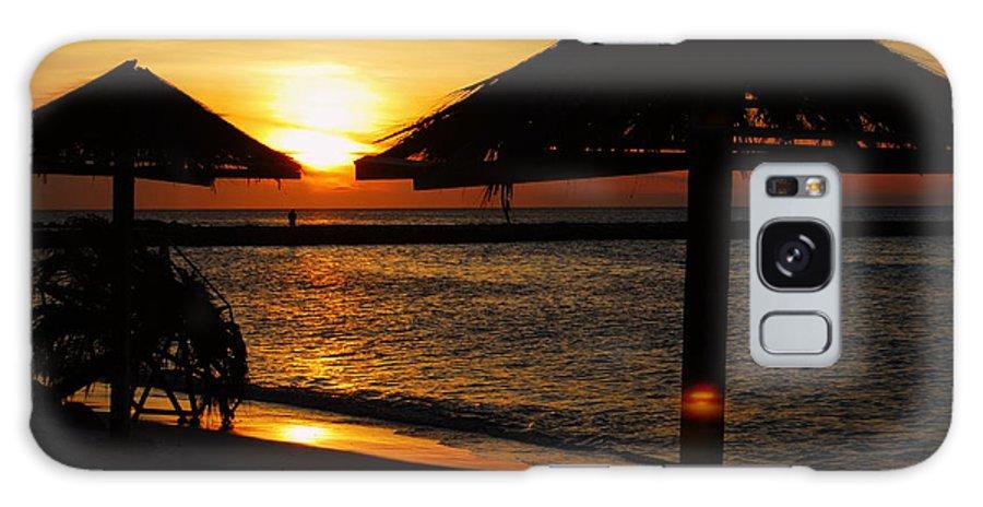 Caribbean Galaxy S8 Case featuring the photograph Aruba Sunset by Caroline Stella