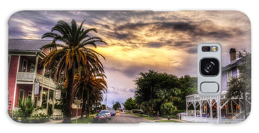 Cloudy Sky Sunset Galaxy S8 Case featuring the photograph Ash Street by Island Sunrise and Sunsets Pieter Jordaan
