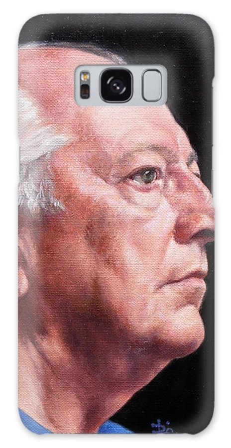 Portrait Galaxy S8 Case featuring the painting Ashby's Portrait by Deborah Allison