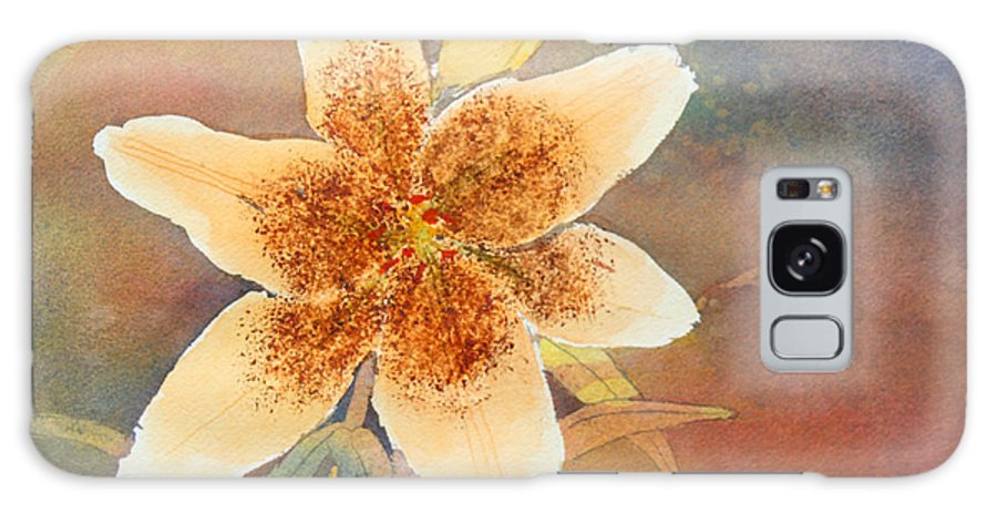 Lily Galaxy Case featuring the painting Asiatic Lily by Patricia Novack