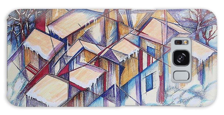 Elaine-feehan-vileria Galaxy S8 Case featuring the painting Aspen by Elaine Vileria