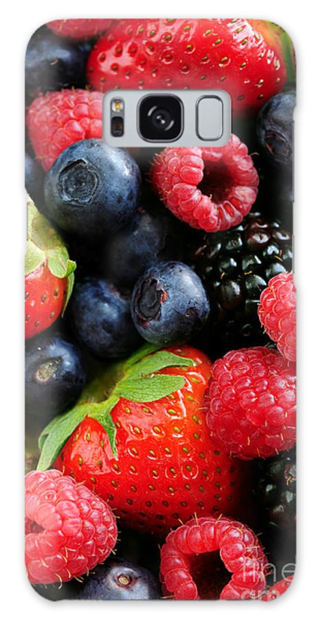 Berry Galaxy S8 Case featuring the photograph Assorted Fresh Berries by Elena Elisseeva