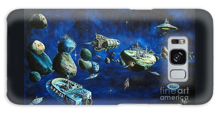 Fantasy Galaxy S8 Case featuring the painting Asteroid City by Murphy Elliott