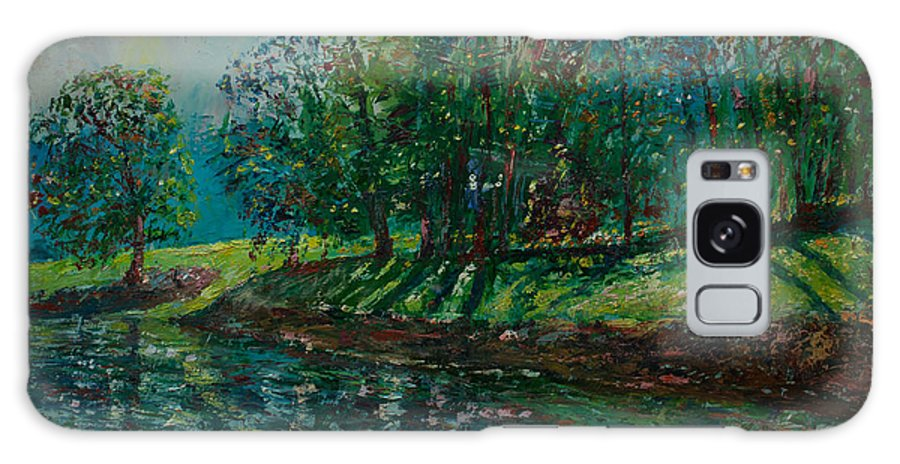 Oil Galaxy S8 Case featuring the painting At Carondelet Park by Horacio Prada