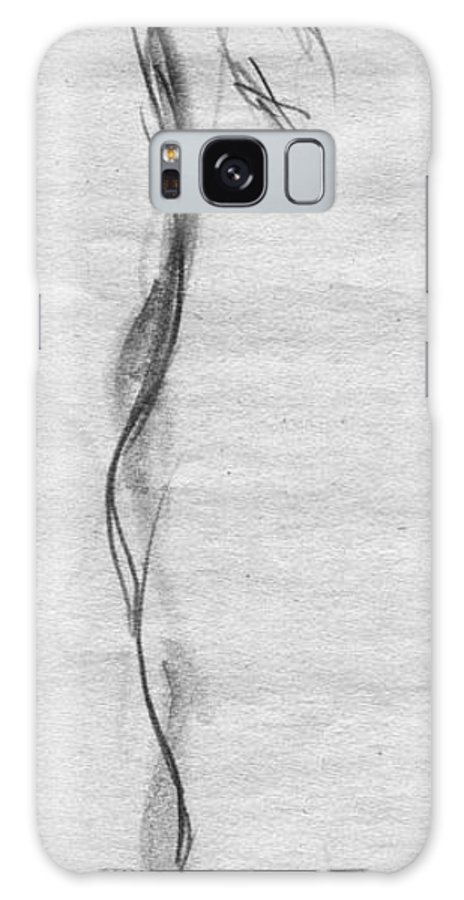 Dance Dancer Ballet Ballerina Barre Gesture Drawings Galaxy S8 Case featuring the drawing At The Barre by Ann Radley
