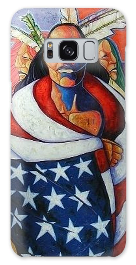 American Indian Galaxy Case featuring the painting At The Crossroads by Joe Triano
