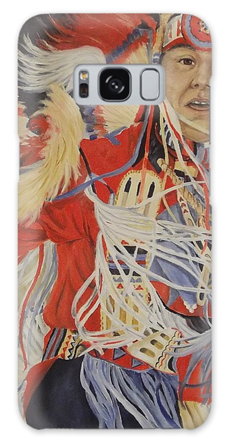 Indian Galaxy S8 Case featuring the painting At The Powwow by Wanda Dansereau