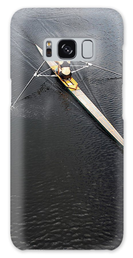 Sport Rowing Galaxy Case featuring the photograph Athlete Rowing And Sculling by Shanekato