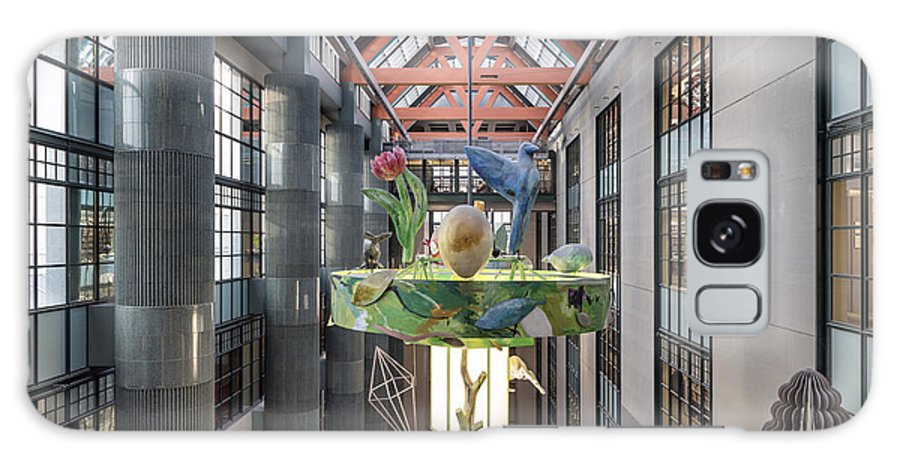 Los Galaxy S8 Case featuring the photograph Atrium Of The Central Library In Los Angeles by Carol M Highsmith