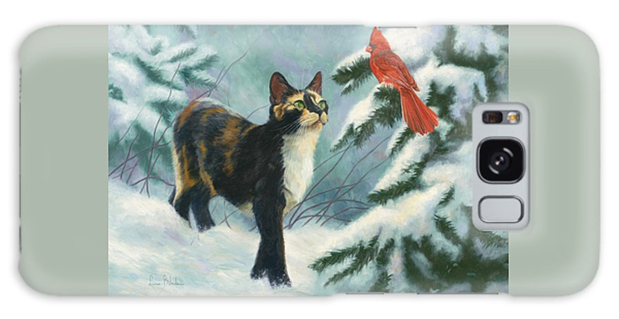 Cat Galaxy S8 Case featuring the painting Attentive by Lucie Bilodeau