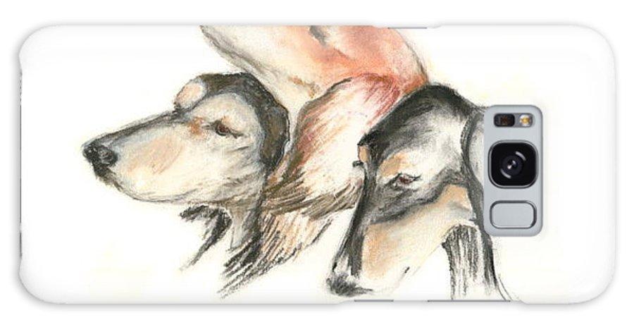 Dog Galaxy S8 Case featuring the drawing Attitude by Cori Solomon