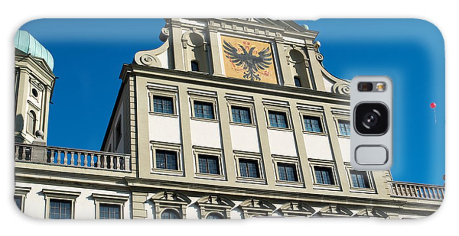 Augsburg Galaxy S8 Case featuring the photograph Augsburg Townhall - Rathaus by Frank Gaertner