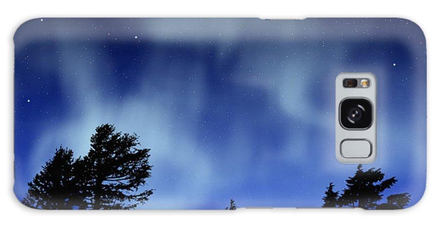 Aurora Borealis Mural Galaxy Case featuring the painting Aurora Borealis Wall Mural by Frank Wilson