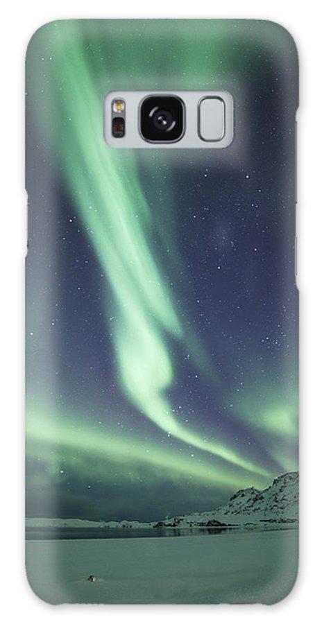 Aurora Borealis Galaxy S8 Case featuring the photograph Aurora Twister by Arnar B Gudjonsson