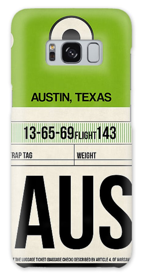 Austin Galaxy Case featuring the digital art Austin Airport Poster 1 by Naxart Studio