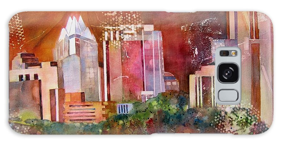Austin Landscape Galaxy S8 Case featuring the painting Austin Skyline IIi by Vicki Brevell