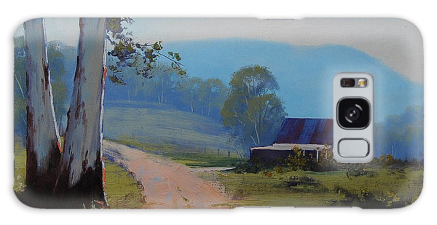 Art Galaxy S8 Case featuring the painting Australian Landscape Lithgow by Graham Gercken