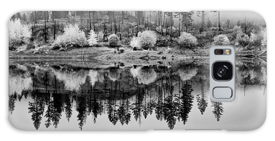 British Columbia Galaxy S8 Case featuring the photograph Autumn Reflection Black And White by Allan Van Gasbeck