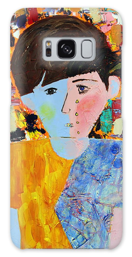Abstract Galaxy S8 Case featuring the painting Autism - Child And Mother by Carmencita Balagtas