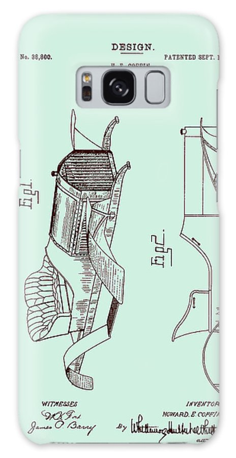 Patent Galaxy S8 Case featuring the drawing Automobile Patent 1907 by Mountain Dreams