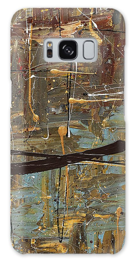 Abstract Art Galaxy S8 Case featuring the painting Autumn 3 by Carmen Guedez