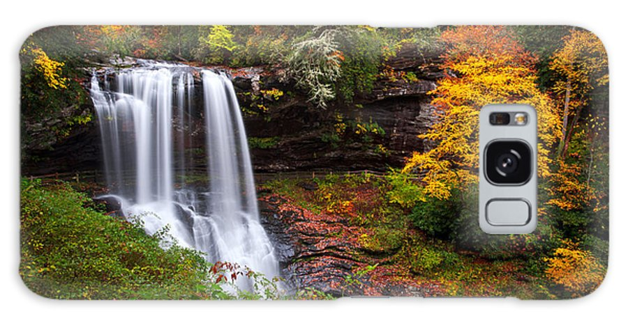 Waterfalls Galaxy S8 Case featuring the photograph Autumn At Dry Falls - Highlands Nc Waterfalls by Dave Allen